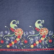 Jeans, srajčni, vezen, cvetlični, 19994-008, temno modra