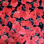Plüsch, Polyester, floral, 19999-069