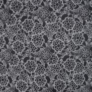 Jersey, bombaž, cvetlični, 20023-069, črna