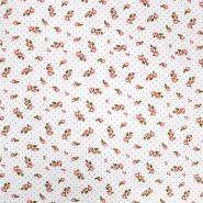 Jersey, pamuk, cvjetni, 20015-015, bijela