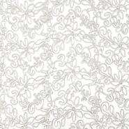 Spitze, elastisch, floral, 20017-052, sahne