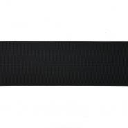 Elastikband, Rand, 75 mm, 20030-002, schwarz