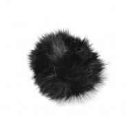 Cof, umetno krzno, 15cm, 18889-002, črna