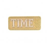 Aufnäher, Time, 19274-004, beige