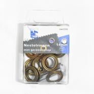 Ringen mit Ausrüstung, 14 mm, 10 Stck, 10065-3, kupfer