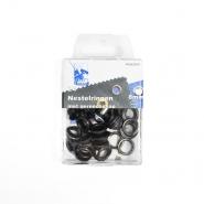 Ringen mit Ausrüstung, 8 mm, 24 Stck, 11572-4, schwarz