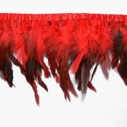 Federn auf Band, 15584-10, rot
