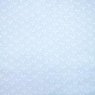 Pamuk, popelin, točke, 20072-2, svijetloplava