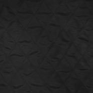 Prošiven materijal, karo, 20076-01, crna