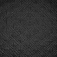 Steppstoff, Karo, 20076-02, schwarz