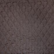 Prošiven materijal, karo, 20076-04, smeđa - Svijet metraže