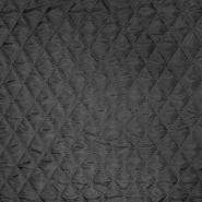 Prošiven materijal, karo, 20076-14, crna