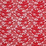 Spitze, elastisch, floral, 20083-015, rot