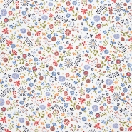 Jersey, Baumwolle, floral, 20024-051, sahne