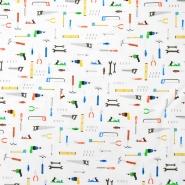 Sweatshirtstoff, flauschig, für Kinder, 20102-001, weiß