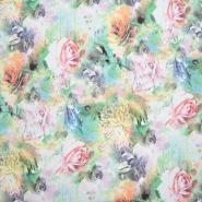 Triko materijal, čupav, cvjetni, 20126