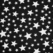 Sweatshirtstoff, Sterne, 20127-2, schwarz