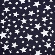 Sweatshirtstoff, Sterne, 20127-3, dunkelblau
