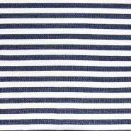 Sweatshirtstoff, Sterne, 20127-6, blau-weiß