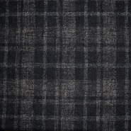 Wolle, für Mäntel, Karo, 20136-60, schwarz-braun