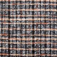 Wolle, für Mäntel, Karo, 20138-56, orangen-braun