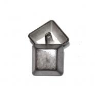 Knopf, metallisch, Bömbchen, 25mm, 20176-002, grau
