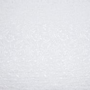 Jacquard, beidseitig, Ornament, 20130-1, weiß