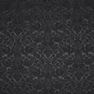 Jacquard, beidenseitig, Ornament, 20130-2, schwarz