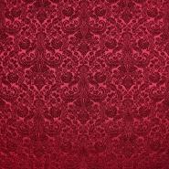 Žakard, obojestranski, ornamentni, 20130-3, rdeča