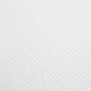 Wirkware, dicker, geometrisch, 19215-1, weiß
