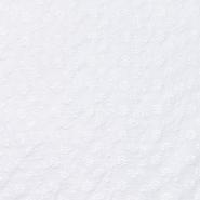 Bombaž, rišelje, cvetlični, 20188-7, bela