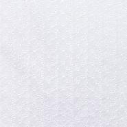 Bombaž, rišelje, cvetlični, 20188-10, bela