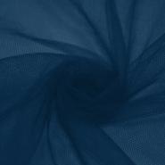 Tüll, weich, glänzend, 20189-30639, dunkelblau