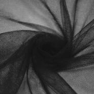 Tüll, weich, glänzend, 20189-1, schwarz