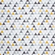 Baumwolle, Popeline, geometrisch, 20196-1, weiß