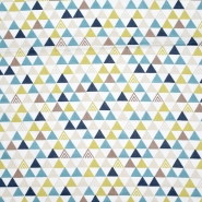 Baumwolle, Popeline, geometrisch, 20196-2, weiß
