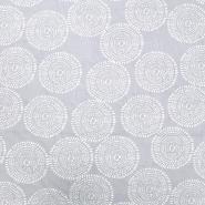 Pamuk, popelin, krugovi, 20203-2, siva