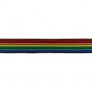 Band, dekorativ,  elastisch, 20210-32450, regenbogenfarben