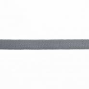 Trak, keper, bombaž, 15 mm, 15835-5132, siva