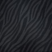 Žakard, živalski, 20289-3, črna