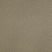 Tetra tkanina, dvojna, pikice, 19032-009, rjava