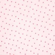 Musselin, doppelt, Herzen, 20383-003, rosa