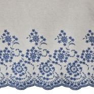Leinen, Viskose, Stickerei, 20384-001, blau