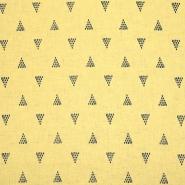 Leinen, Viskose, geometrisch, 20390-009, gelb
