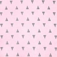 Leinen, Viskose, geometrisch, 20390-003, rosa