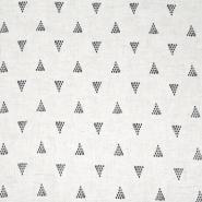 Leinen, Viskose, geometrisch, 20390-001, beige