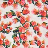 Gewebe, Mikrosatin, floral, 20396-001