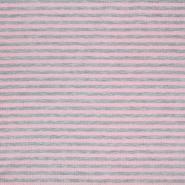 Sweatshirtstoff, Streifen, 20410-005, rosa