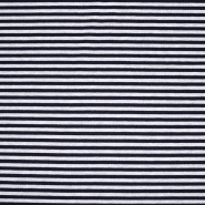 Sweatshirtstoff, Streifen, 20410-002, dunkelblau