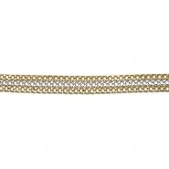 Band, Kette, 13 mm, 20418-1100, silbern-golden
